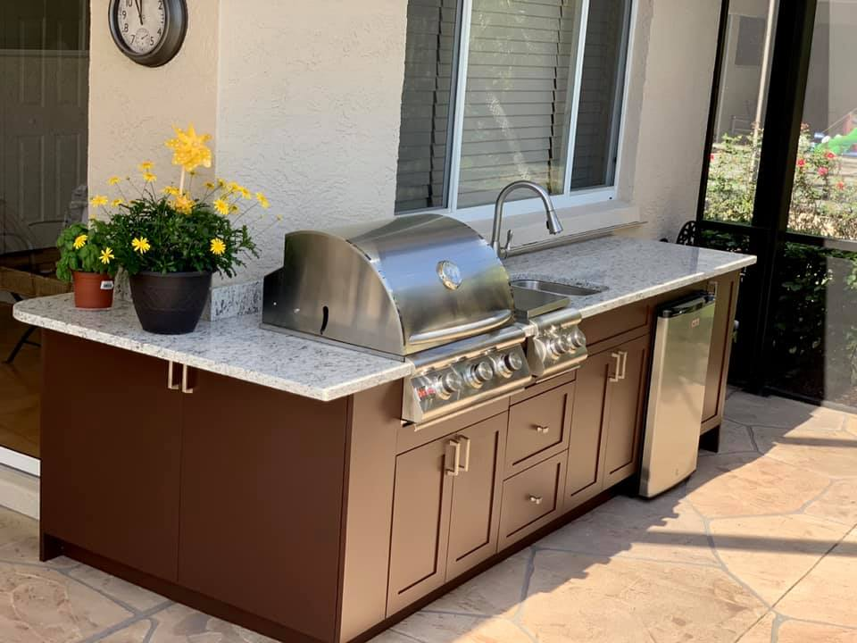 Outdoor kitchen contractor Roseville CA